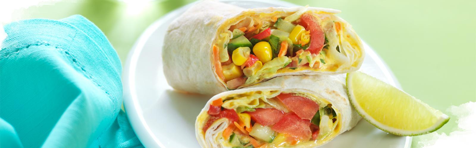 Bunter Gemüse Wrap