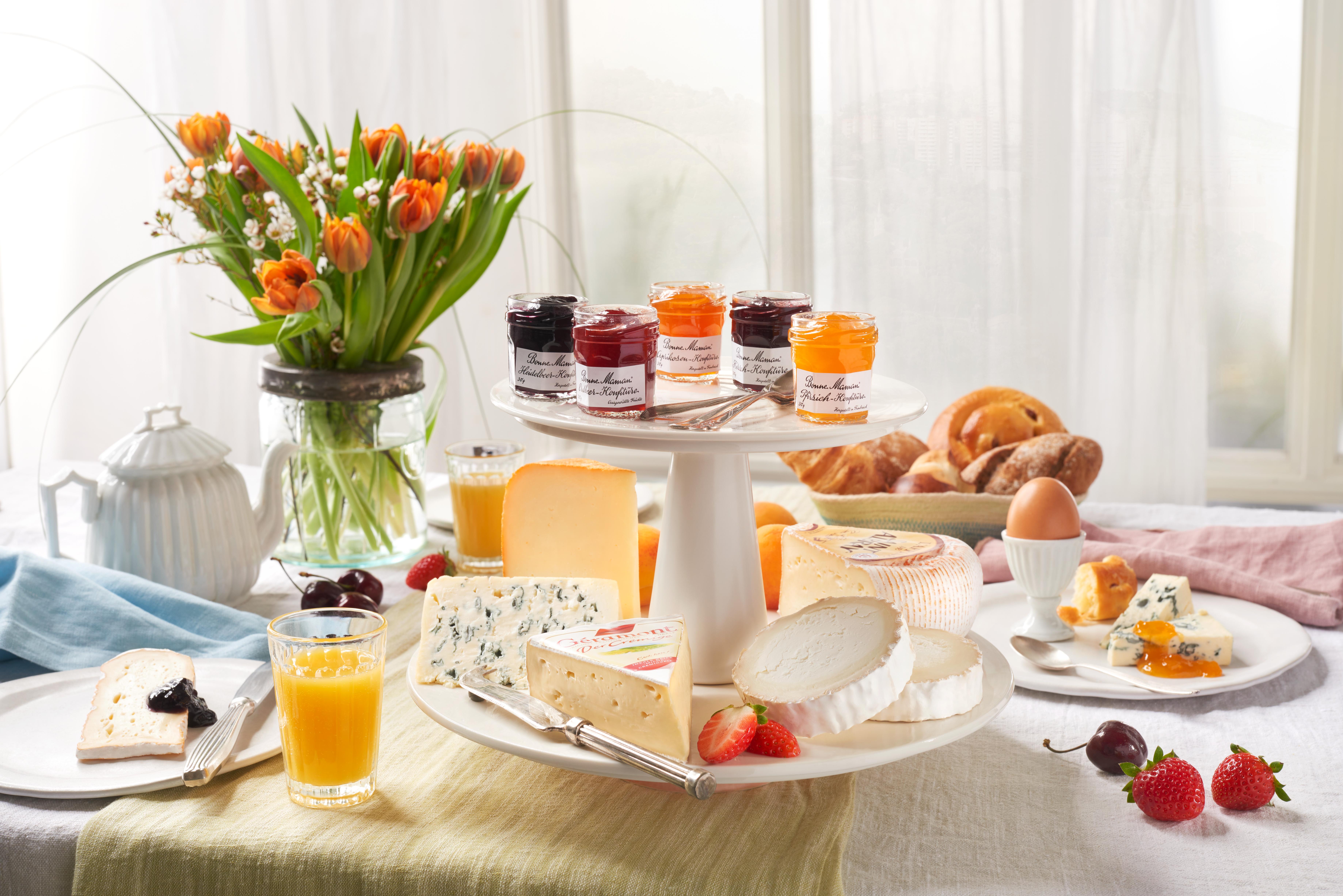 ambientebild Käse und Marmelade