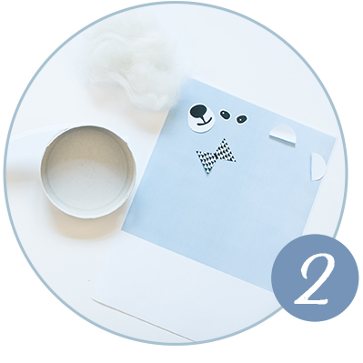 DIY Anleitung für einen kuscheligen Eisbär aus leeren Käseschachteln.