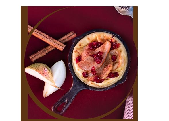 Raclette mal süß: Birnen-Preiselbeer-Pfännchen