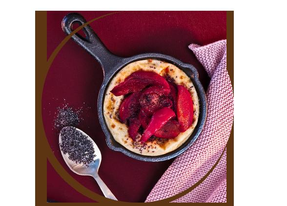 Raclette mal süß: Pflaumen-Mohn-Pfännchen