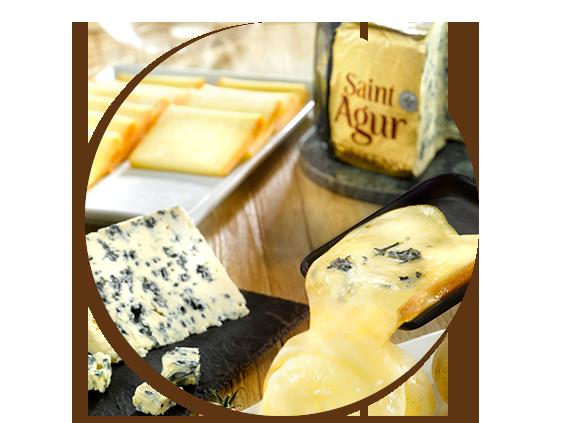 Verfeinert jedes Raclette: Saint Agur Blauschimmelkäse