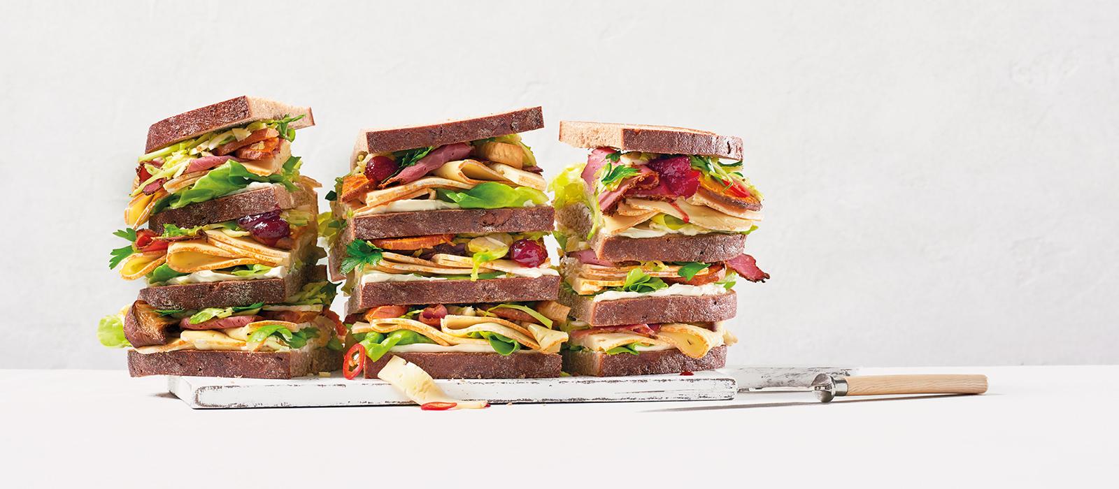 Bauernbrot-Pastrami-Sandwich