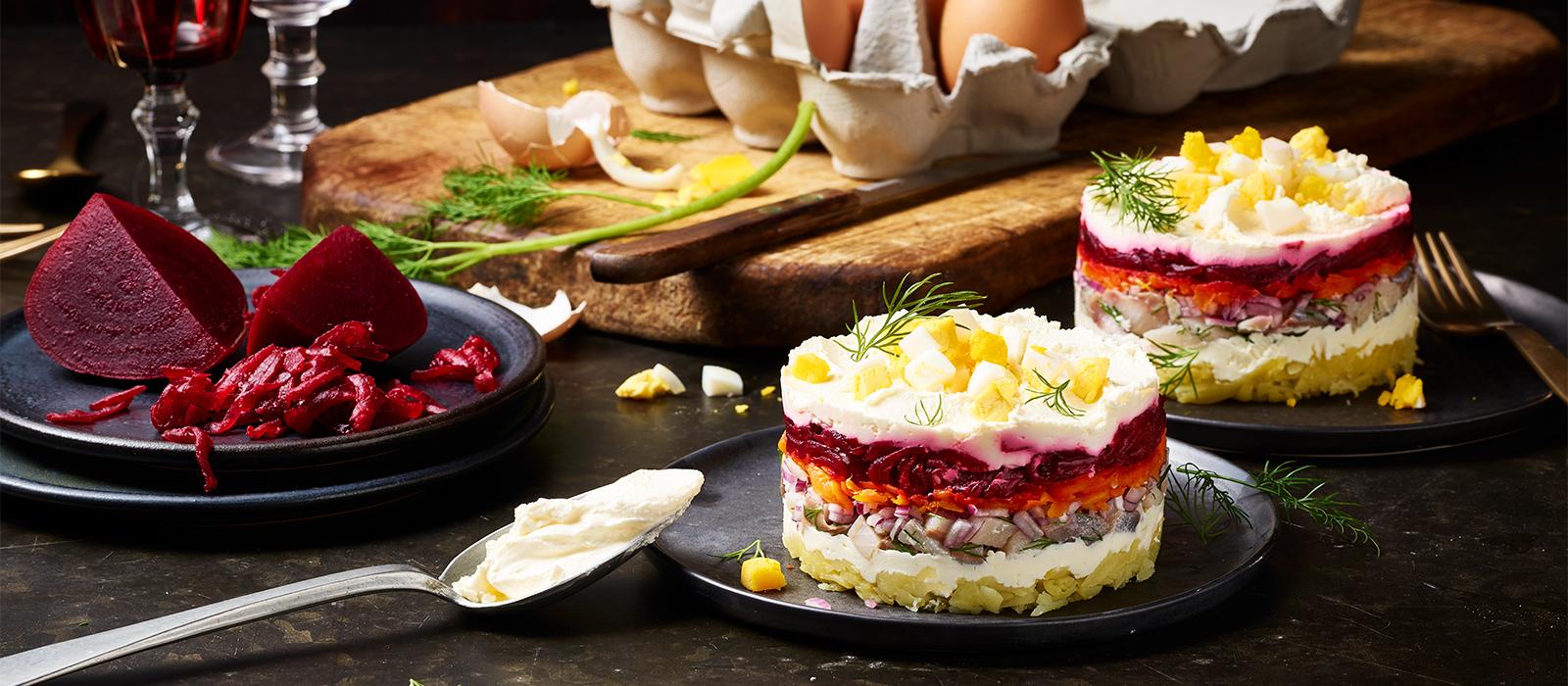 Shuba - Rote Bete Salat mit Matjes