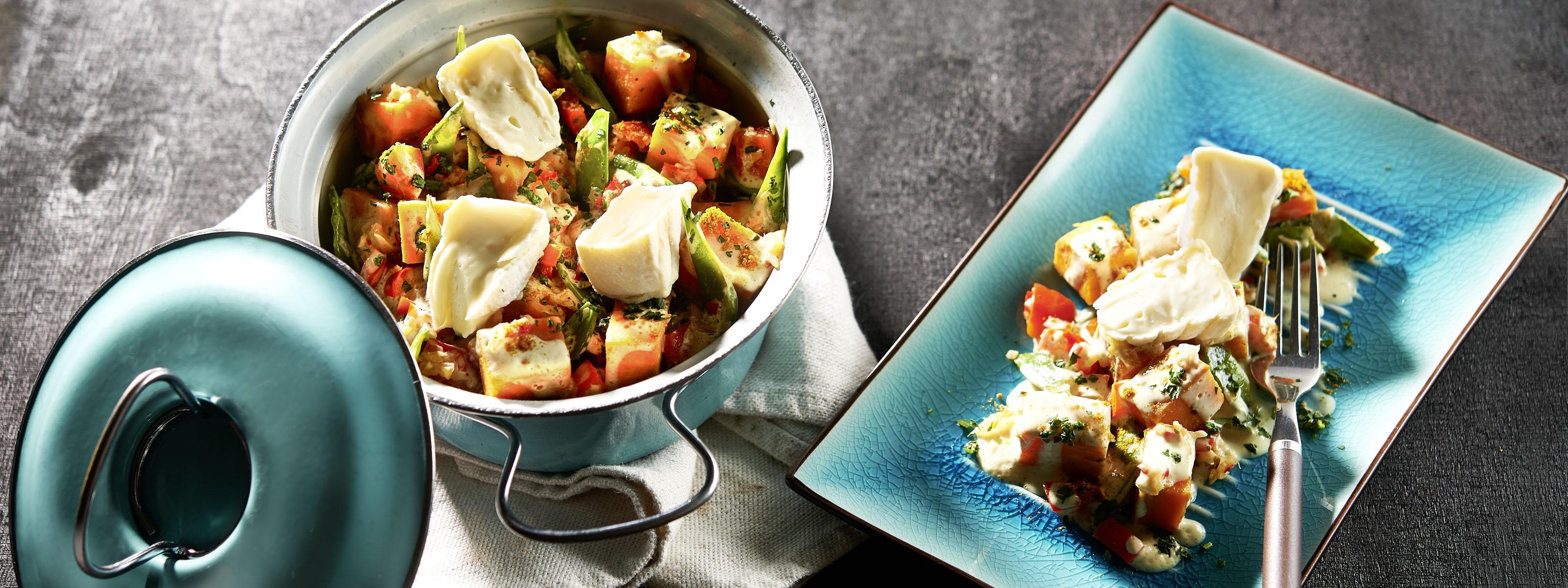 Rezept für Buntes One Pot Süßkartoffel Curry