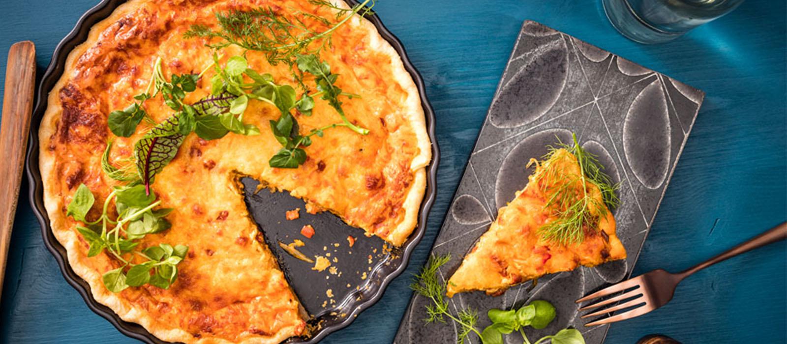 Rezept Tomate-Paprika-Chorizo-Quiche