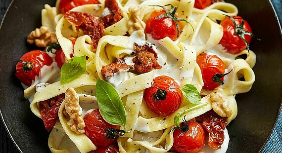 Picture of Fettuccine with Saint Agur Creme